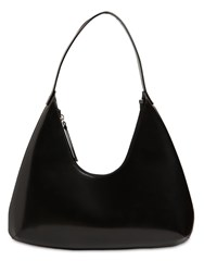 By Far Amber Semi Patent Leather Bag Black