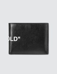 Off White Quote Bifold Wallet Black