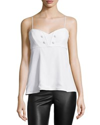 Missoni Sleeveless Sweetheart Neck Camisole White