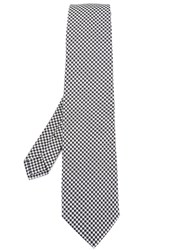 Etro Houndstooth Pattern Tie Black