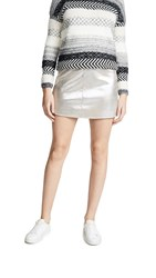 Cupcakes And Cashmere Keller Miniskirt Silver Toffee