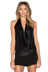 Ramy Brook Harriet Halter Tank Black