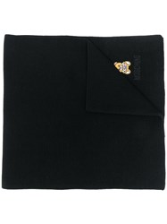 Moschino Toy Teddy Knitted Scarf Black