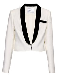 Racil Dallas Single Breasted Tuxedo Blazer White Black