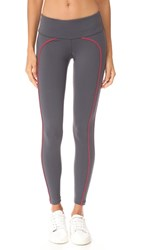Splits59 Tandem Leggings Dark Grey Red