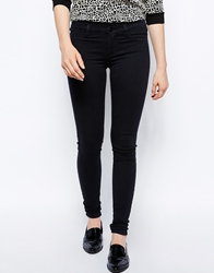 Just Female Skinny Jeans In Black Power Blackpower
