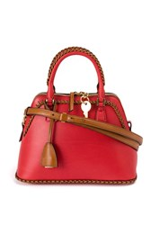 Maison Martin Margiela Braided Shoulder Bag Women Calf Leather Polyester One Size Red