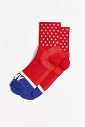 Icny Quarter Ankle Stars Sock Red