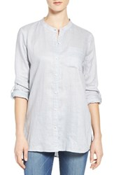 Vince Camuto Women's Two By Collarless Linen Shirt