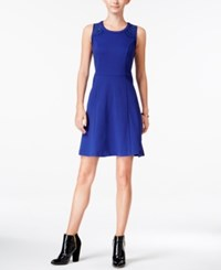 Maison Jules Lace Inset Fit And Flare Dress Only At Macy's Bright Sapphire