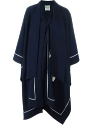 Each X Other Asymmetric Maxi Poncho Blue