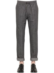 Bernardo Giusti Cotton And Wool Herringbone Pants