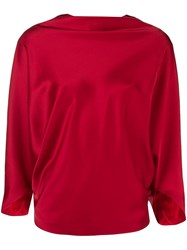 Chalayan Boat Neck Blouse Red