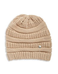 Modena Horizontal Ribbed Knit Hat Taupe