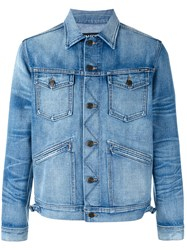 Tom Ford Faded Wash Denim Jacket Blue