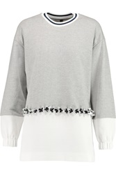 Mother Of Pearl Herald Embellished Cotton Jersey Sweatshirt