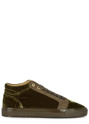 Android Propulsion Green Velvet Trainers