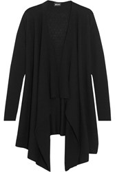 Just Cavalli Draped Wool Cardigan Black
