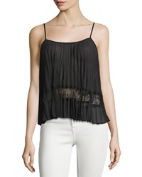 Bcbgeneration Pleated Lace Inset Camisole Black