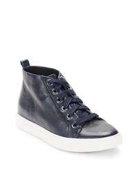 Kenneth Cole Kaleb Leather Sneakers Navy Blue