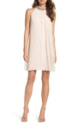 Vince Camuto Women's Beaded Collar Trapeze Dress