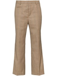 R 13 R13 Checked Cropped Trousers Brown