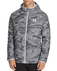 Under Armour Cold Gear Reactor Hooded Jacket White Overcast Gray White