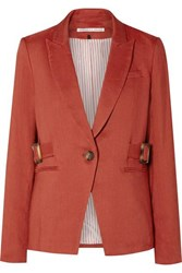 Veronica Beard Baltazar Dickey Linen Blend Blazer Red