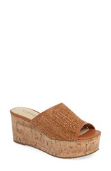 Charles By Charles David Women's Crisp Platform Wedge Sandal Camel