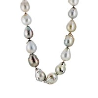 Linda Lee Johnson Women's Baroque Pearl Necklace Red Purple No Color Red Purple No Color