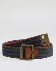 Abercrombie And Fitch Reversible Fabric Belt Ki112 6202 200 Navy