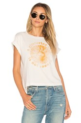 Mother A Glittering Gem Is Not Enough Crop Tee White