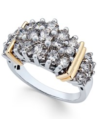 Macy's Diamond Cluster Ring 2 Ct. T.W. In 14K Two Tone Gold Two Tone