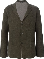 Roberto Collina Three Button Knit Cardigan Brown