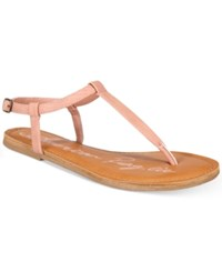 American Rag Krista T Strap Flat Sandals Only At Macy's Women's Shoes Blush