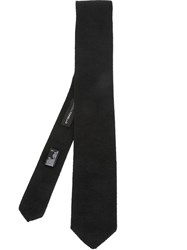 Tonello Knitted Pointed Tip Tie Black