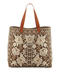 Johnny Was Lane Everyday Tote Bag Taupe
