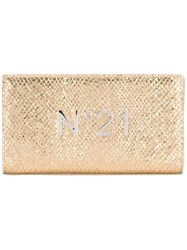 N 21 No21 Logo Plaque Wallet Metallic