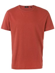 Theory Gaskell N T Shirt Men Cotton Linen Flax Xl Yellow Orange