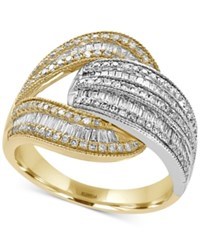 Effy Duo By Diamond Open Wrap Ring 1 Ct. T.W. In 14K Yellow And White Gold Yellow White Gold