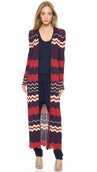 Ronny Kobo Alexi Long Cardigan Bordeaux