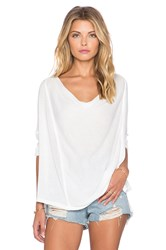 Free People Lucky Day Wrap Tee White