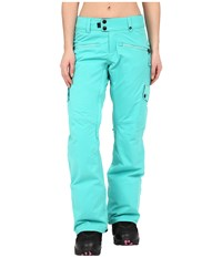 686 Authentic Mistress Insulated Pants Tiffany Diamond Dobby Women's Casual Pants Blue