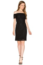 1.State Off Shoulder Lace Dress Black