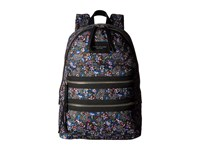 Marc Jacobs Garden Paisley Printed Biker Backpack Purple Multi