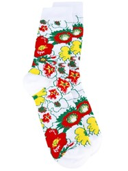 Stella Mccartney Foolish Flowers Socks Green