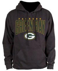 Nfl Authentic Apparel Men's Green Bay Packers Defensive Line Hoodie Heather Charcoal