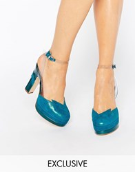 Terry De Havilland Direction Teal Heeled Shoes Teal Blue