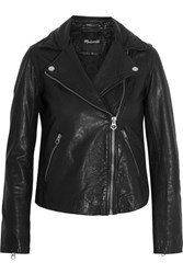 Madewell Moto Leather Biker Jacket Black