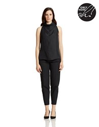 424 Fifth Twill Cut Away Tank Black